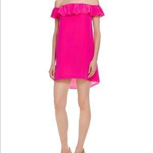 Amanda Uprichard Pink Off Shoulder Dress